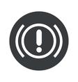 Monochrome round alert icon vector image vector image