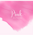 pink abstract watercolor ink effect background vector image vector image