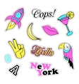 Pop art set with fashion patch badges and vector image vector image
