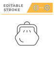purse editable stroke line icon vector image
