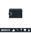 Purse icon flat vector image vector image