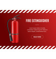 realistic detailed 3d fire extinguisher concept vector image vector image