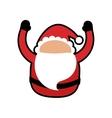 santa merry christmas cartoon icon graphic vector image vector image