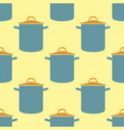 Seamless pattern pot saucepan background vector image