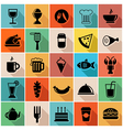 set food icons vector image