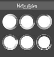 set of vintage ink painted labels for greetings vector image vector image