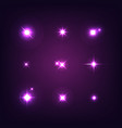 set various forms sparks realistic vector image vector image
