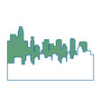 silhouette of urban city vector image vector image