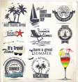 Summer vacation and travel labels vector image vector image
