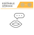 talk editable stroke line icon vector image vector image