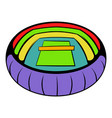 tennis stadium icon icon cartoon vector image vector image