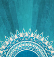 vintage blue sun background with grunge effect vector image vector image