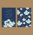 wedding invitation floral background vector image vector image