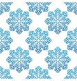 winter seamless with blue snowflakes vector image vector image