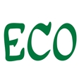 Word Eco vector image vector image