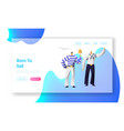 young handsome sailors at work website landing vector image vector image