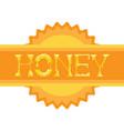 honey shining logo isolated creative lettering on vector image