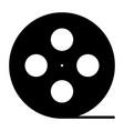 film reel silhouette iconcinema production symbol vector image