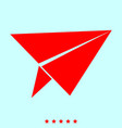 paper airplane set it is color icon vector image