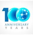 100 anniversary connecting logo