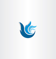 abstract blue logo wave water symbol vector image