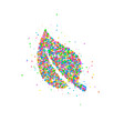 abstract leaf splash vector image
