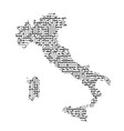 abstract schematic map of italy from the black vector image vector image