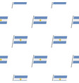 argentina flag pattern seamless vector image vector image