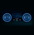 automotive dashboard in hud style vector image vector image