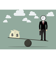 Balancing Time and Money vector image vector image