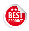best product label sticker vector image