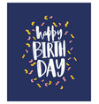 birthday greeting card or postcard template with vector image vector image