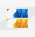 blue and yellow gradient horizontal web vector image vector image