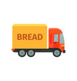 bread delivery truck stage of bread production vector image vector image