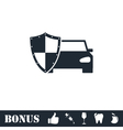 Car insurance icon flat vector image vector image
