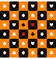 Card Suits Orange Black Chess Board Diamond vector image vector image