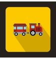 Children train icon flat style vector image vector image