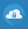 cloud computing flat icon security vector image vector image