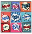 Comic Bubbles Set Expressions Pop Art vector image vector image