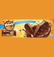 deluxe chocolate ice cream bar ads premium ice vector image