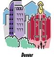 Denver vector image