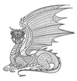 dragon coloring page vector image