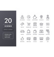 e-commerce line icons vector image
