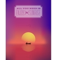 eastern sunrise seascape abstract background vector image