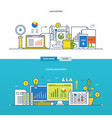 financial management and reporting business vector image