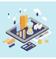 Flat 3d Isometric Business Finance Analytics
