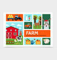 flat farming infographic concept vector image vector image