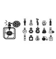 fragrance bottles icons set simple style vector image