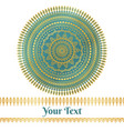Golden and teal mandala background