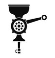 hand meat grinder icon simple style vector image vector image